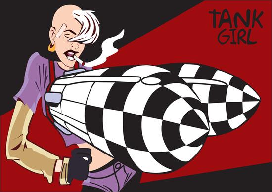 copy: Tank Girl(Векторная графика и иллюстрация)
