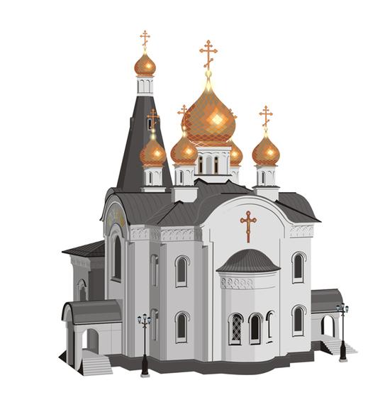 copy: Церковь(Векторная графика и иллюстрация)