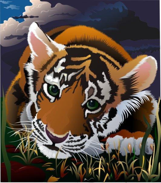 V-Best: тигренок для Тигрис(Векторная графика и иллюстрация)