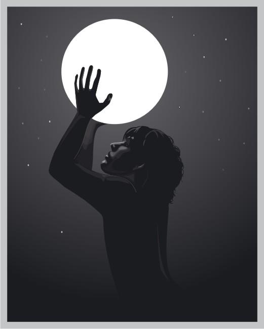 copy: луна(Векторная графика и иллюстрация)