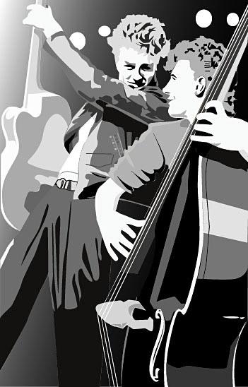 copy: Band в стиле 80-х(Векторная графика и иллюстрация)