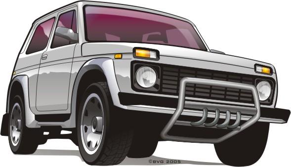 Машины: car niva(Векторная графика и иллюстрация)