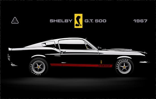 Машины: Mustang Shelby GT500(Векторная графика и иллюстрация)