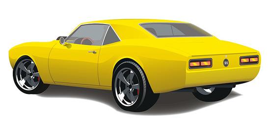 Машины: Chevrolet Camaro SS 1968(Векторная графика и иллюстрация)