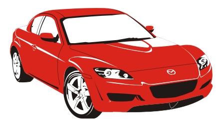 Машины: Mazda RX8(Векторная графика и иллюстрация)