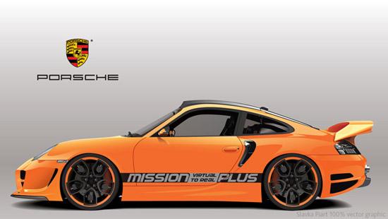 Машины: Porsche(Векторная графика и иллюстрация)