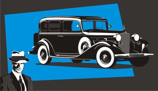 Машины: Кадилак 1936(Векторная графика и иллюстрация)