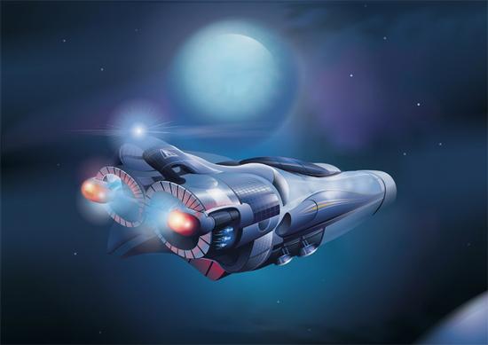 Машины: Interstellar-fighter(Векторная графика и иллюстрация)