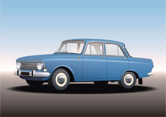 Машины: Москвич - 412(Векторная графика и иллюстрация)