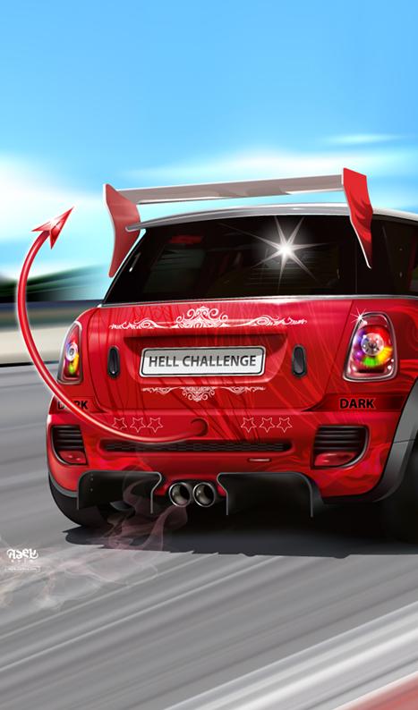 Машины: Hell Challenge(Векторная графика и иллюстрация)
