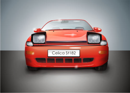 Машины: Toyota Celica st182. 1994 год.(Векторная графика и иллюстрация)