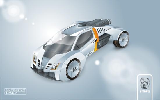 Машины: Питбуль(Векторная графика и иллюстрация)