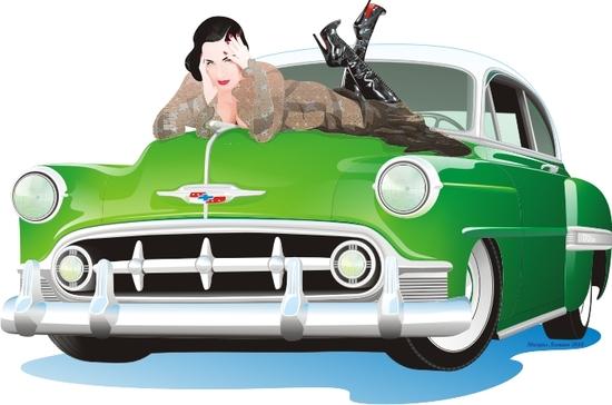 Машины: Шевроле и Дита(Векторная графика и иллюстрация)