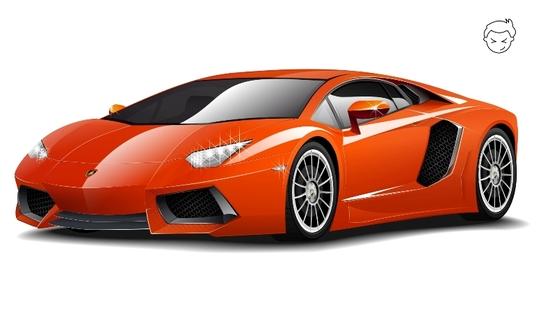 Машины: Lamborghini Aventador Lp-700(Векторная графика и иллюстрация)