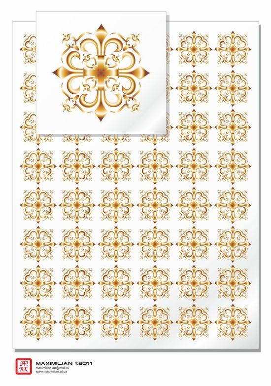 Узоры: Gothica 001(Векторная графика и иллюстрация)