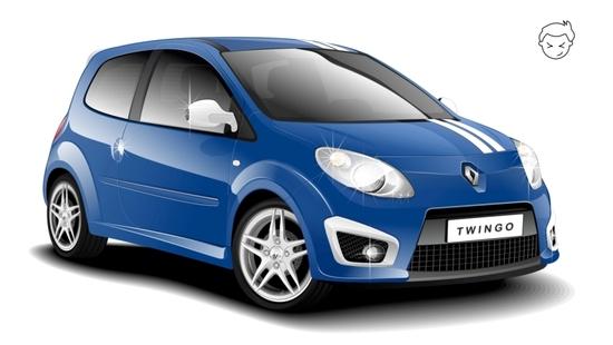 Машины: Renault Twingo(Векторная графика и иллюстрация)
