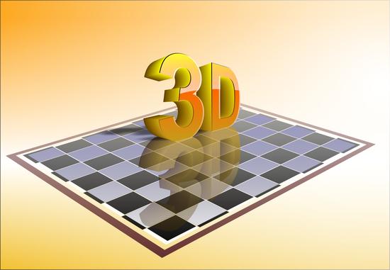 надпись 3D