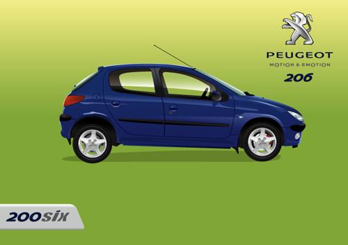 Машины: peugeot 206 vector(Векторная графика и иллюстрация)